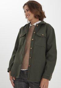 Fransa - FXTAHIR - Summer jacket - dark olive - 0