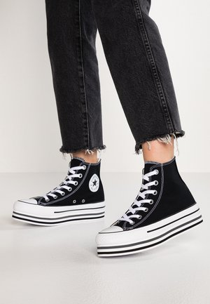 CHUCK TAYLOR ALL STAR PLATFORM - Sneakersy wysokie - black