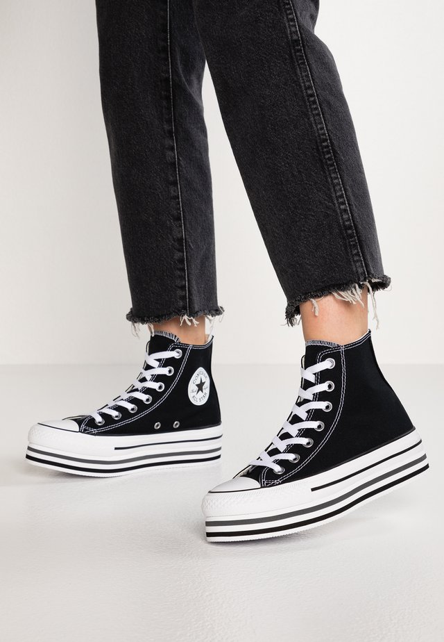 CHUCK TAYLOR ALL STAR PLATFORM - Korkeavartiset tennarit - black