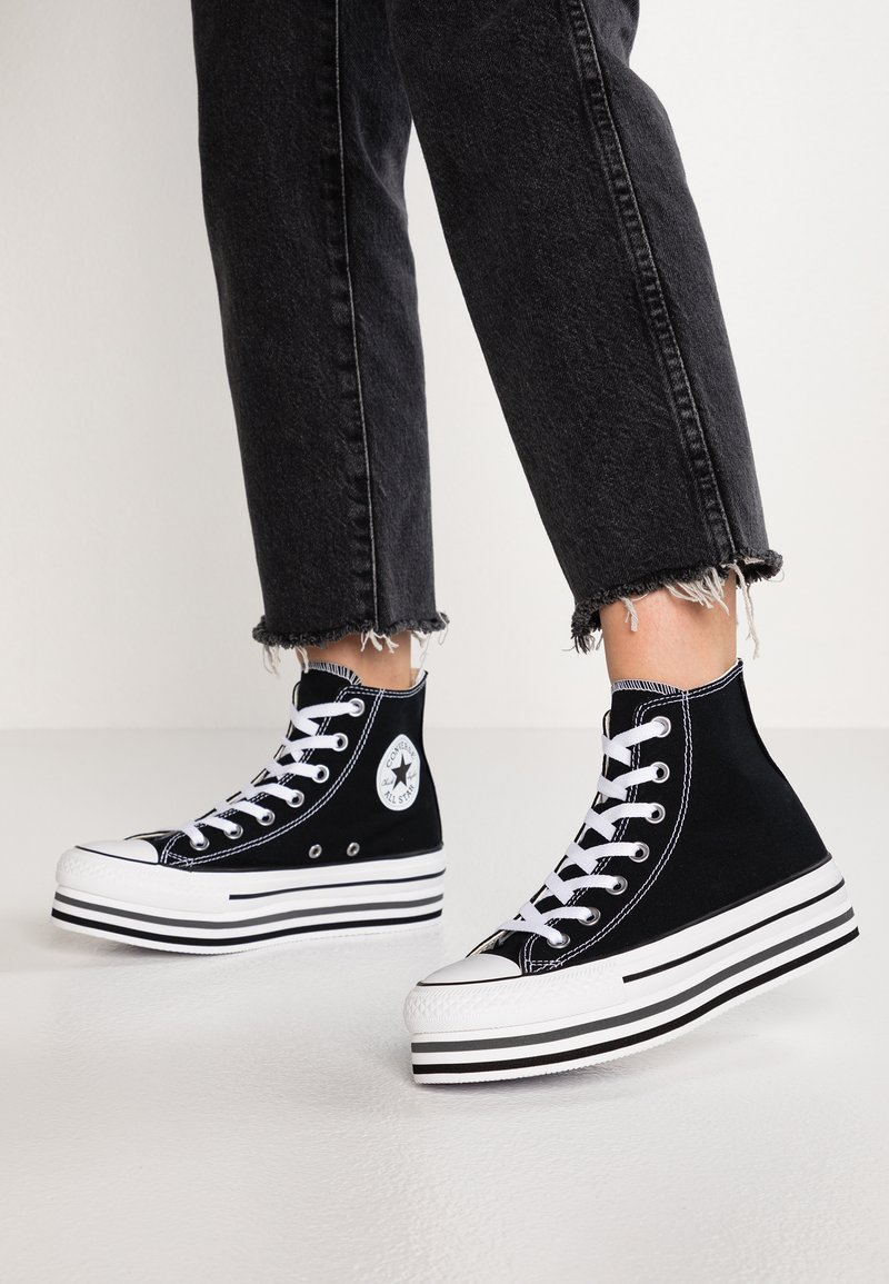 Converse - CHUCK TAYLOR ALL STAR PLATFORM - High-top trainers - black