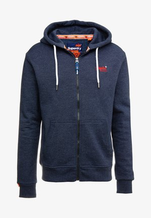 ORANGE LABEL CLASSIC ZIPHOOD - Zip-up hoodie - midnight blue feeder