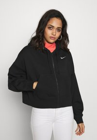 Nike Sportswear - TREND - Zip-up hoodie - black/white - 0