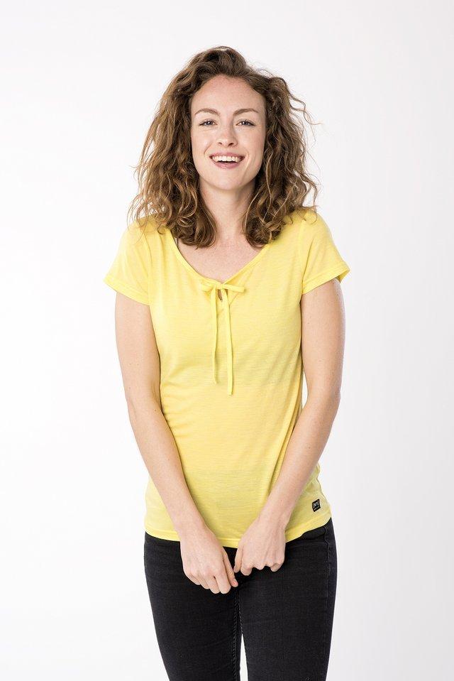 RELAX TEE - Print T-shirt - yellow