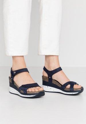 NICA SPORT - Platform sandals - dunkelblau