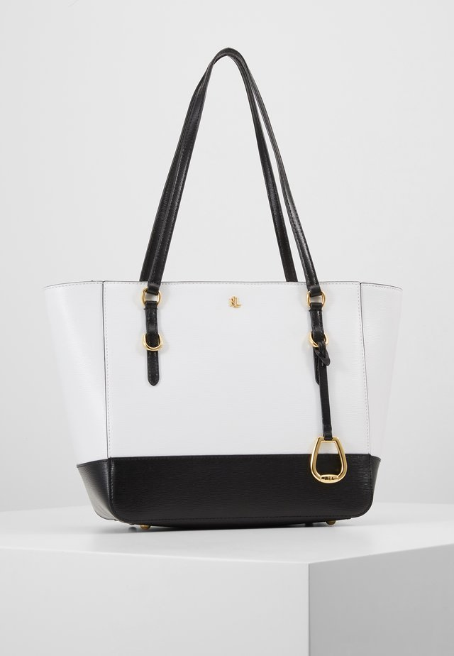 SAFFIANO - Handbag - optic white/black