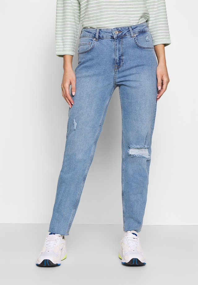 NMJENNA NW ANKLE JEANS KI028MB - Straight leg jeans - medium blue denim