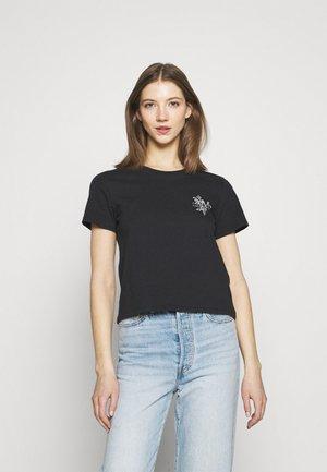 GRAPHIC SURF TEE - T-shirt print - caviar