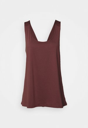 CROSS BACK VEST CURVE - Top - rose brown