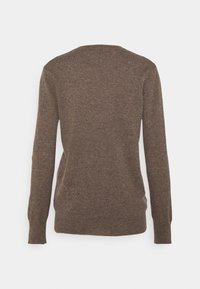 pure cashmere - CLASSIC CREW NECK  - Strikkegenser - heather brown - 1