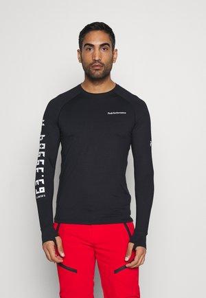 SPIRIT CREW - Long sleeved top - black