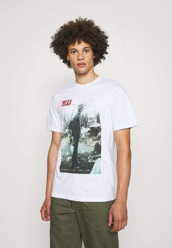 ONSLIFEMAGAZINE TEE - T-shirt imprimé - white