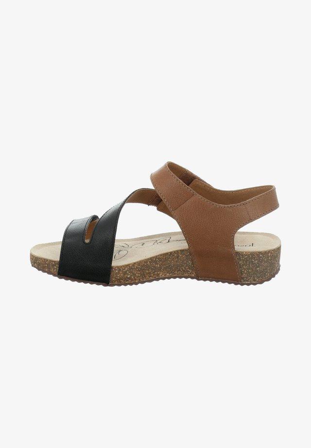 Sandalen - schwarz-kombi
