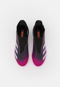 adidas Performance - PREDATOR FREAK .3 LL FG UNISEX - Tekonurmikengät - core black/footwear white/shock pink - 3