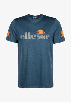 Print T-shirt - navy marl