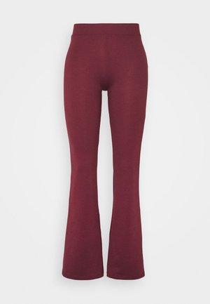 ONLFEVER STRETCH FLAIRED PANTS - Kangashousut - tawny port