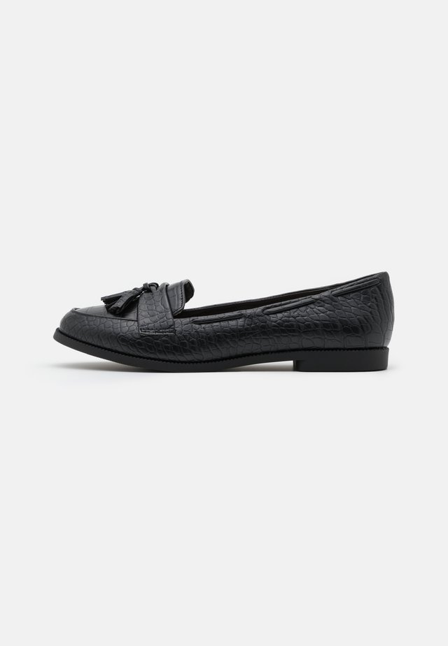 KAIRY FRINGE LOAFER KADET - Instappers - black