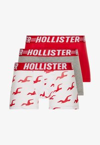 Hollister Co. - PATTERN - Culotte - red/white/grey - 3
