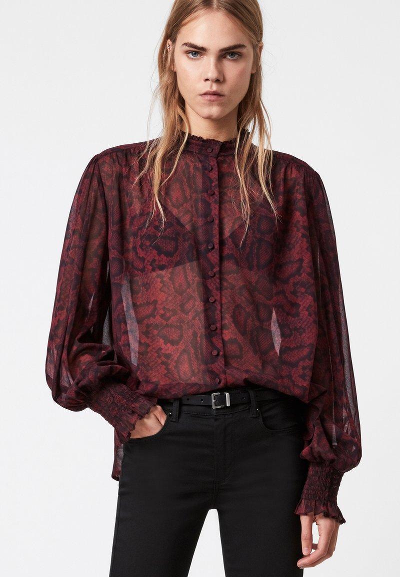 AllSaints - LEONIE STANZA SHIRT - Button-down blouse - red