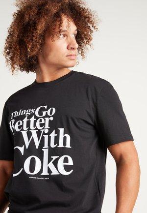 COCA COLA PRINT - Print T-shirt - schwarz black coca cola print