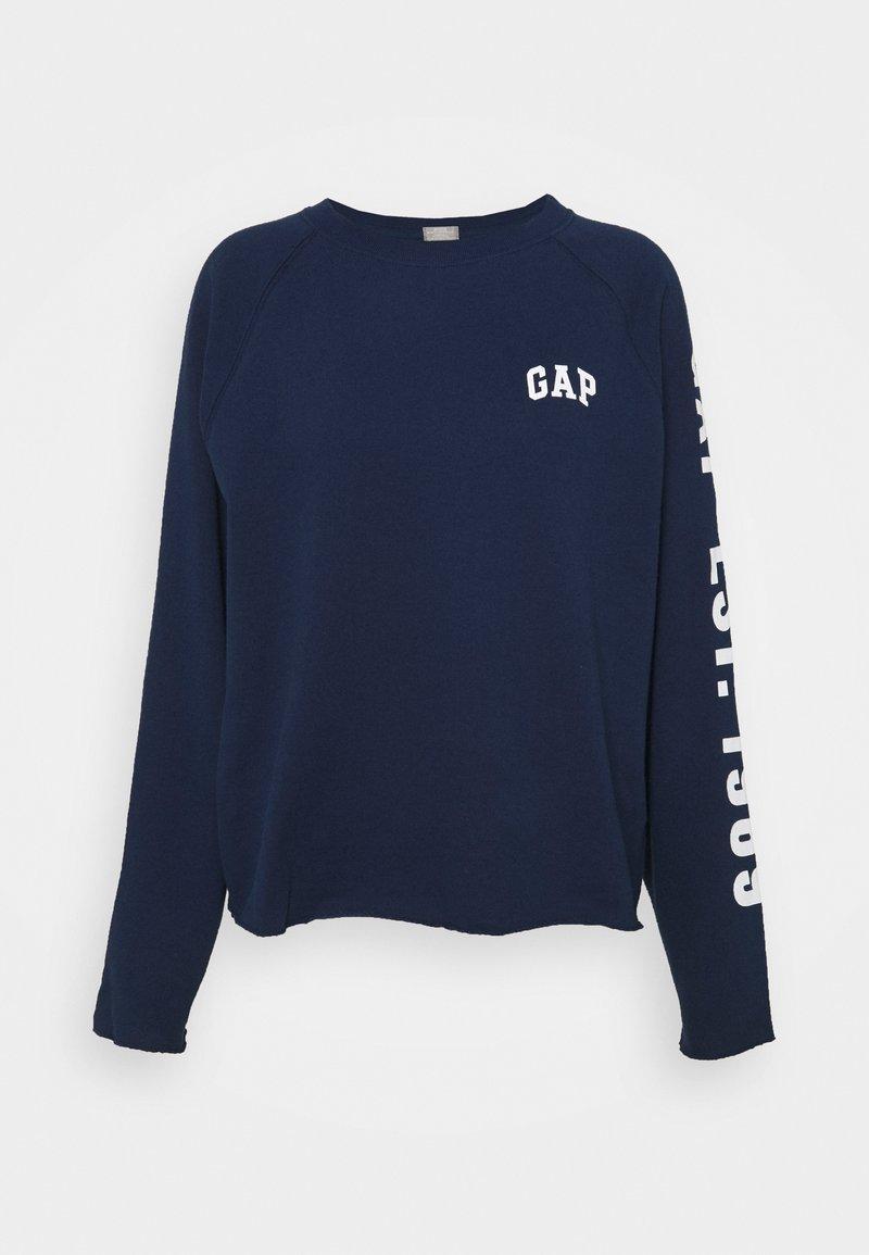 GAP - RAW EDGE - Sweatshirt - elysian blue
