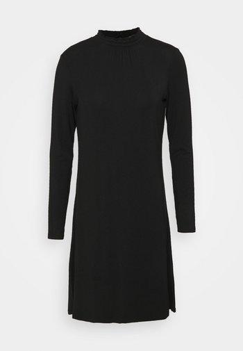 PLAIN SWING - Jersey dress - black