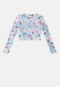 Missguided - BUTTERFLY TIE DYE LETTUCE TOP - Topper langermet - blue - 1