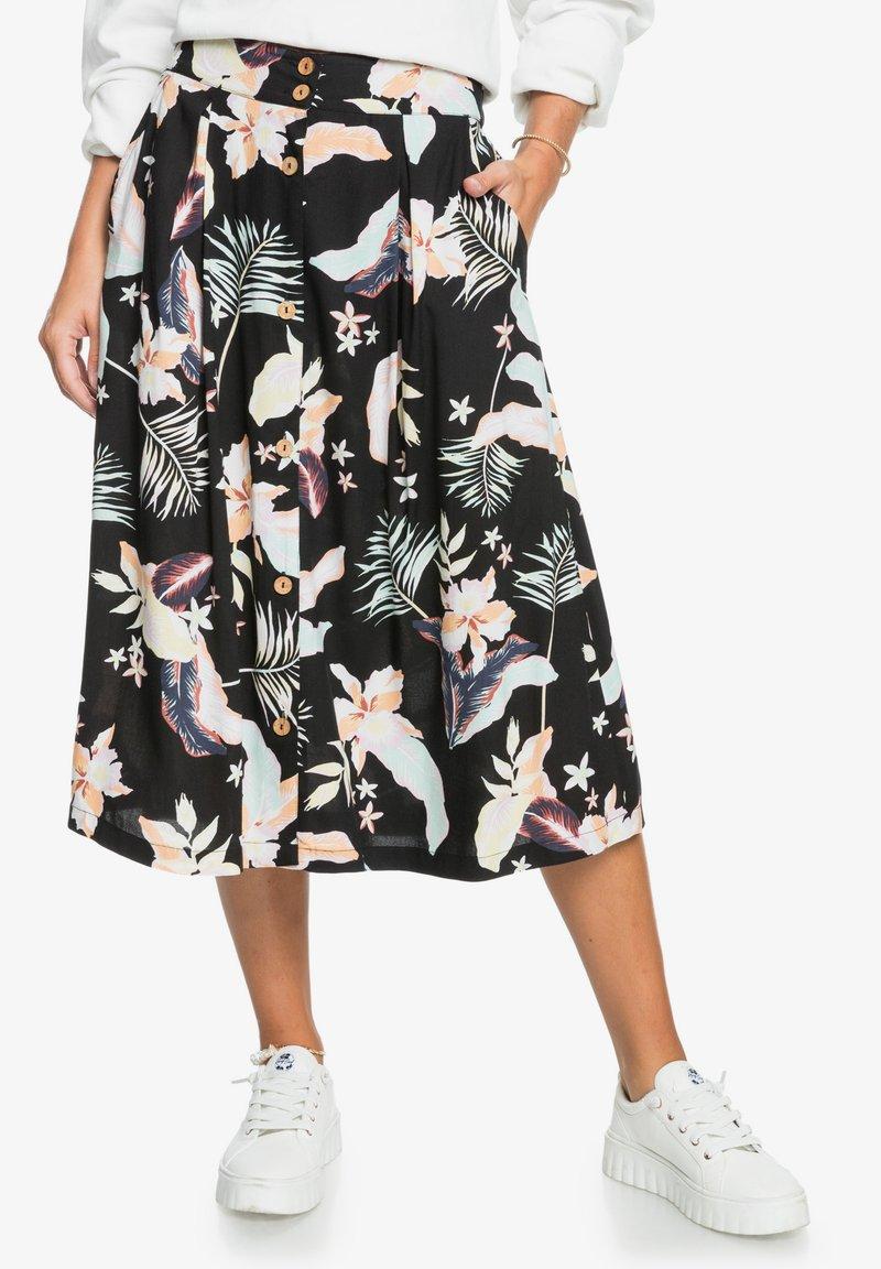 Roxy - NIGHT TIME - A-line skirt - anthracite large praslin