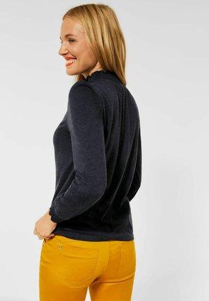 MIT STEHKRAGEN - Long sleeved top - blau