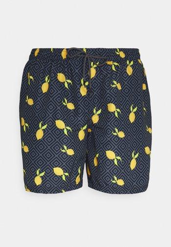 JJIBALI JJSWIMSHORTS FRUIT - Swimming shorts - navy blazer