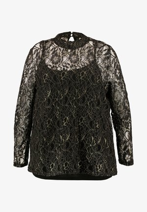 JULI BLOUSE - Blouse - black/gold