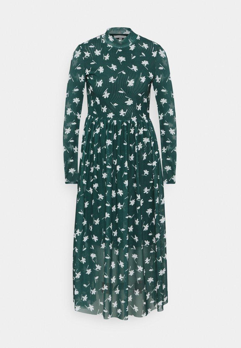 TOM TAILOR DENIM - PRINTED MIDI DRESS - Day dress - green