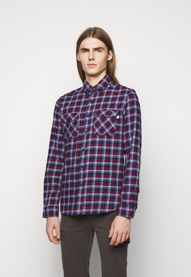 PLAID - Shirt - navy/berry