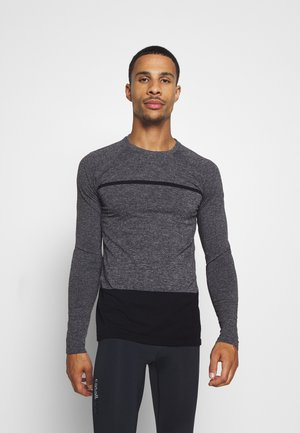 SEAMLESS LONG SLEEVE - Long sleeved top - dark grey melange