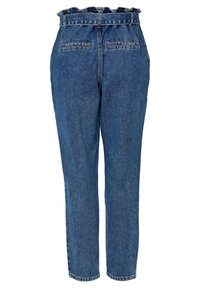 ONLY - HIGH WAIST ONLJANE HW BUTTON PAPERBAG BELT - Relaxed fit jeans - medium blue denim - 6