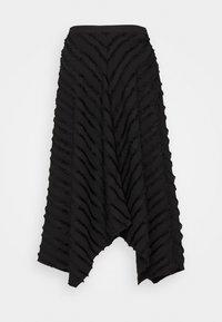 Proenza Schouler White Label - FRINGE FIL COUPE SKIRT - A-line skirt - black - 7