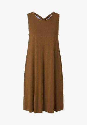 MIT RÜCKENDETAIL - Day dress - caramel brown