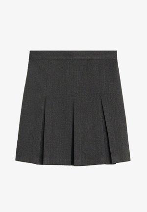 NASTYA7-S - Plisovaná sukně - gris chiné foncé