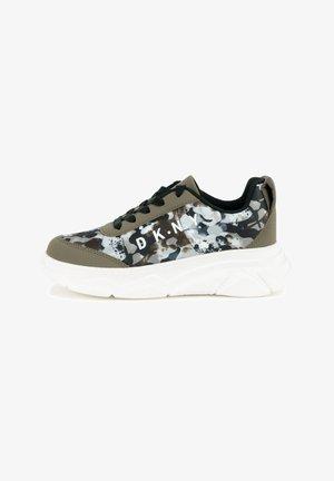 Sneakers laag - vert camouflage