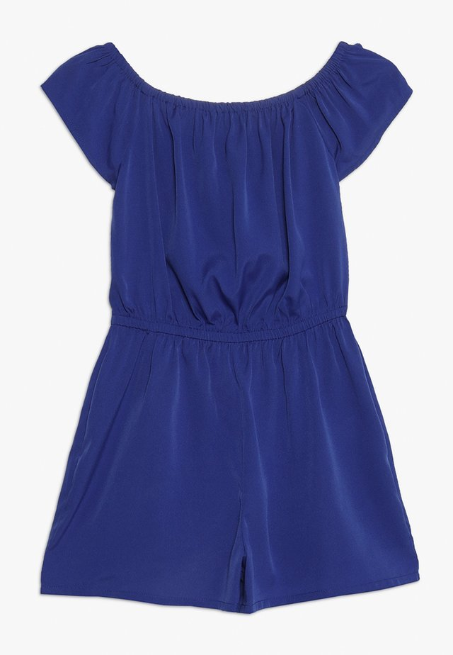 PLAIN BARDOT PLAYSUIT - Mono - mid blue