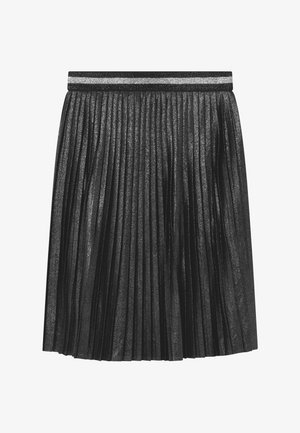 GIRLS PLISEE - A-line skirt - schwarz