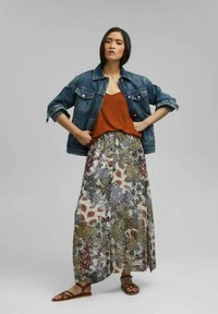 Esprit - Maxi skirt - turquoise - 1