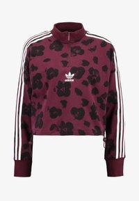 adidas Originals - BELLISTA ALLOVER PRINT PULLOVER - Sweatshirt - maroon/black - 4