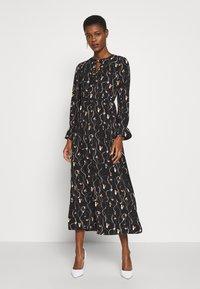 Vero Moda Tall - VMGALICE LS ANKLE DRESS - Vestito estivo - black/galice - 0
