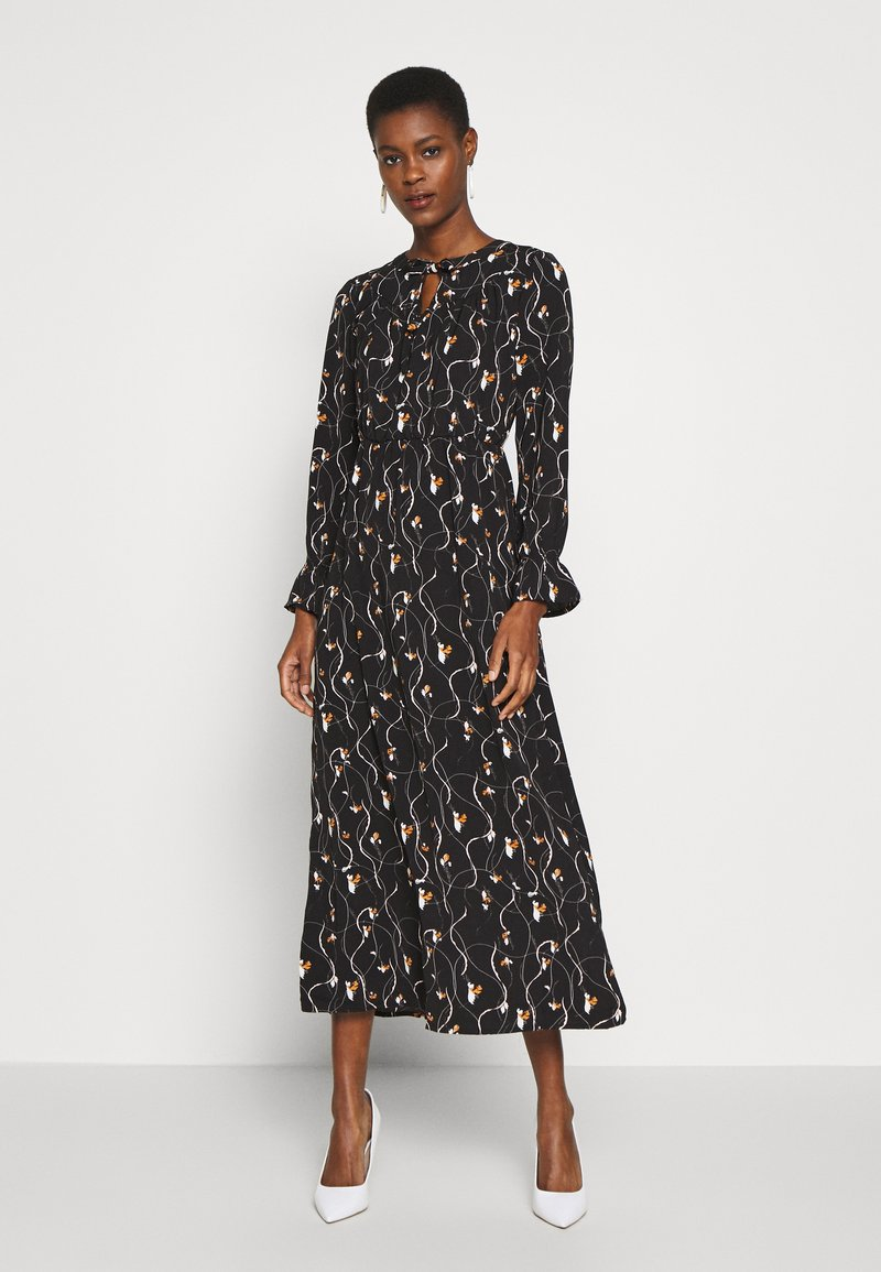 Vero Moda Tall - VMGALICE LS ANKLE DRESS - Vestito estivo - black/galice