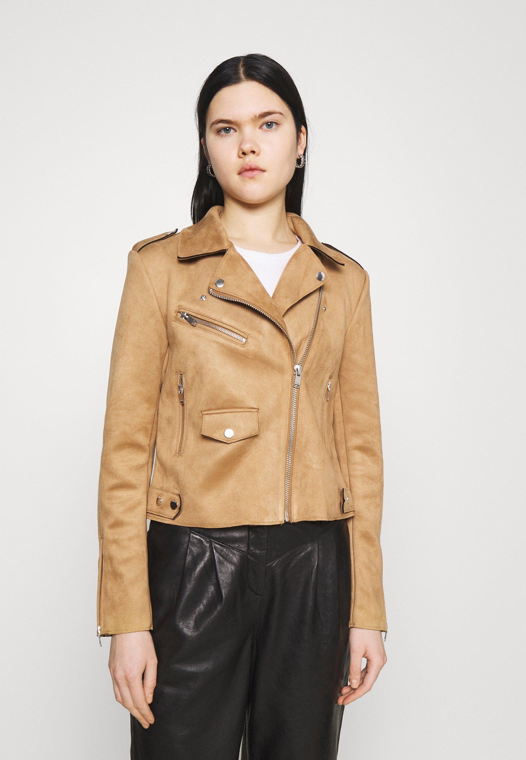 Women ONLSHERRY BIKER - Faux leather jacket
