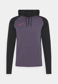Nike Performance - DRY ACADEMY HOODIE  - Jersey con capucha - dark raisin/black/siren red - 3