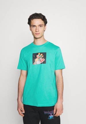 T-JUST-A36 UNISEX - T-shirt med print - turquoise