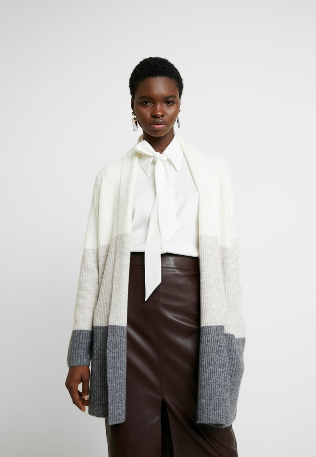 AIRE DUSTER COLORBLOCK - Cardigan - natural