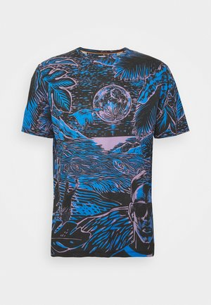 GENTS CHILEAN WOODCUT - Print T-shirt - blue/black