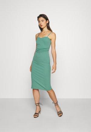 MIDI DRESS - Shift dress - sage green